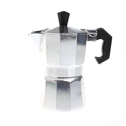SELFON AluminumStovetop Espresso Maker 1 Cup Latte Mocha Coffee Pot Stove TopMaker Tool