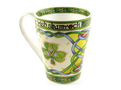 Irish Coffee Cup Shamrock Mug Cream Color Fine Bone China by Royal Tara