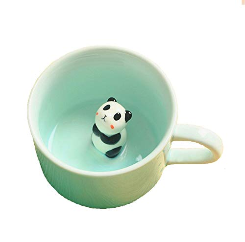 3D Coffee Mug Cute Animal Inside Cup Cartoon Ceramics Figurine Teacup Christmas Birthday Gift for Boys Girls Kids - Party Office Morning Mugs for Tea Juice Milk Chocolate Cappuccino3D Panda Cup