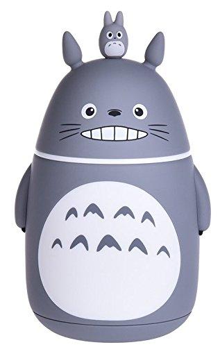 Bamboos Grocery Cute Totoro Vacuum Bottle Vacuum Cup Travel Mug 280 ML Grey