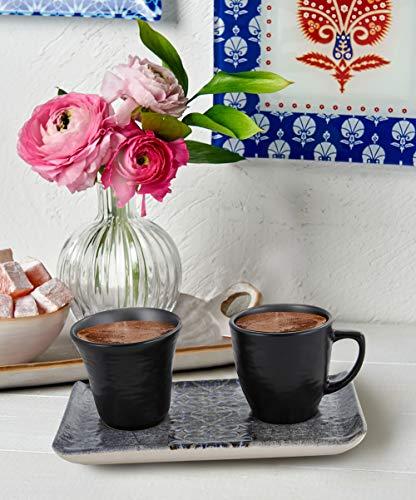 IstanbulArtWorkshop Ceramic Espresso Cups Set In BlackModern Espresso CupsBlack Espresso CupCeramic Espresso CupsEspresso SetTurkish Coffee Cups Set