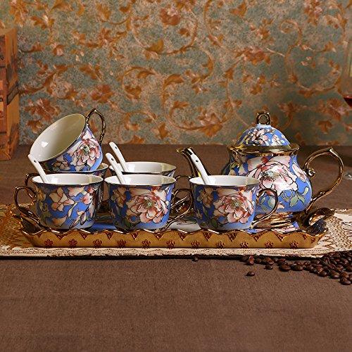 DHWM-Creative Ceramic Coffee Set With A Simple Coffee Cup Set A European-Style Tea Bone China English Afternoon Tea Sets F