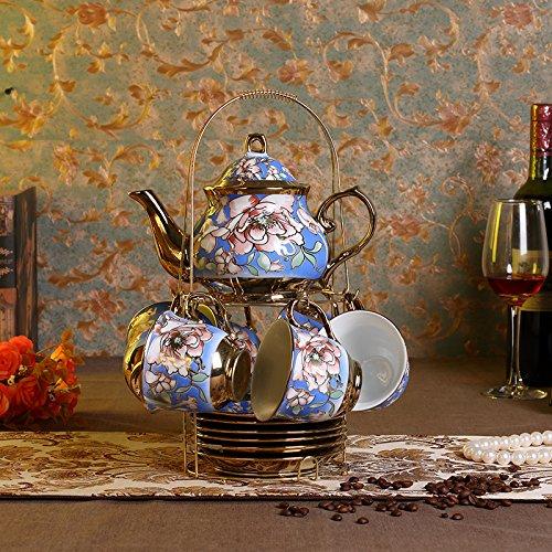 SFSYDDY-Creative Ceramic Coffee Set Coffee Cup Set In A Minimalist European Tea Bone China English Afternoon Tea Sets The C