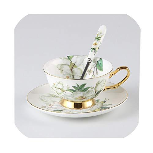 Camellia Bone China Coffee Set British Porcelain Tea Set Ceramic Pot Teatime Teapot Coffee Cup Mug1 Cup Set
