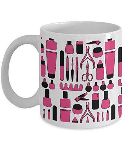 MakeUp Mug 11oz - Manicurist Manicure Kit - Make Up Coffee Mug Beauty Cup
