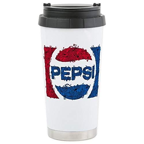 CafePress Pepsi Logo Doodle Stainless Steel Travel Mug Insulated 16 oz Coffee Tumbler