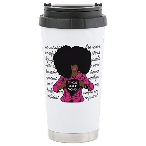 CafePress Typical Black Women Logo Travel Mug 16 Oz Mugs Stainless Steel Travel Mug Insulated 16 oz Coffee Tumbler