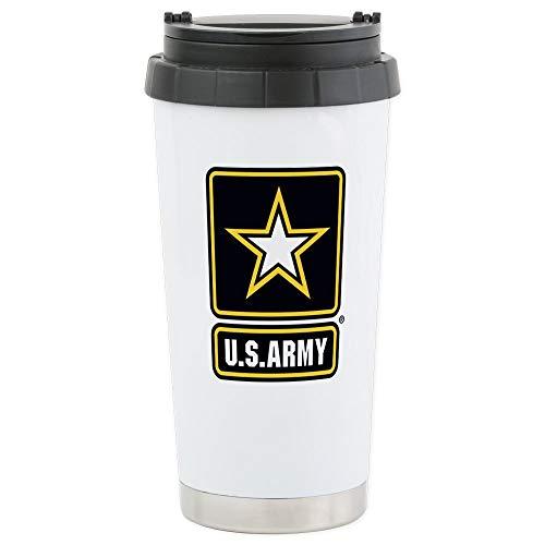 CafePress US ARMY LOGO Travel Mug Stainless Steel Travel Mug Insulated 16 oz Coffee Tumbler