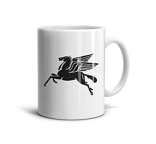 zoyozoyu Mug Mobil Pegasus Logo Travel Mug Travel Coffee Mug Coffee Or TeaMugs Inspirational Motivational Mug 11 Oz Best Friend Mugs Boyfriend