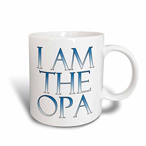 3dRose mug_193303_2 I am the opa Blue and White Ceramic Mug 15 oz White