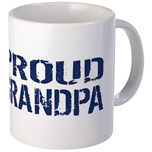 CafePress - US Navy Proud Grandpa Blue White Mug - Unique Coffee Mug Coffee Cup