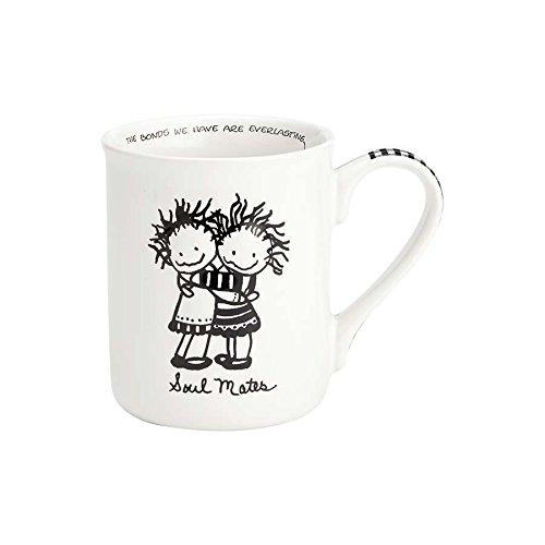 Enesco 4058323 Children of the Inner Light Soul Mates Stoneware Coffee Mug 16 oz White