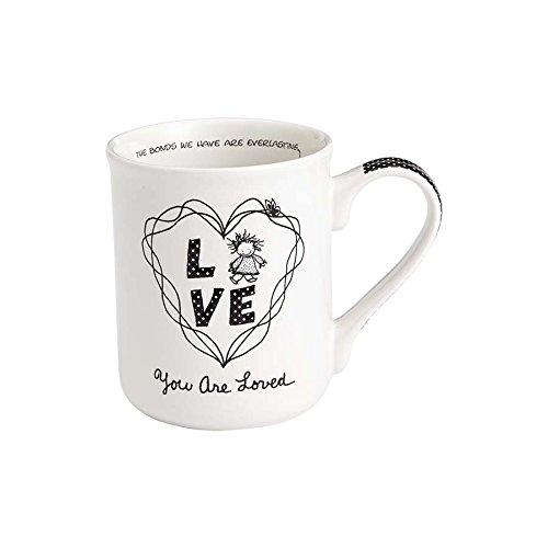 Enesco 4058325 Children of the Inner Light You are Loved Girl Stoneware Coffee Mug 16 oz White