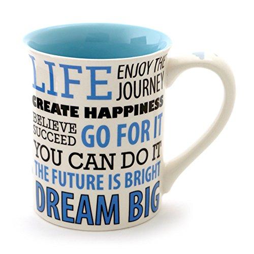 """Our Name is Mud """"Dream Big"""" Stoneware Coffee Mug 16 oz"""