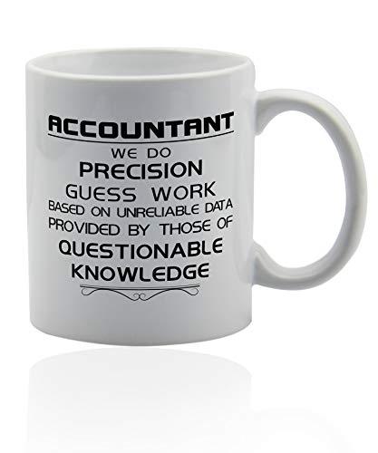 Accountant Gifts 11 oz white ceramic cup Accountant coffee mugs