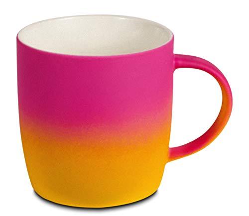 BEGONDIS Coffee Mug Ceramic Gradient Ombré Color Elegant Matte Tea Cup Gift For Family and Friend 115oz