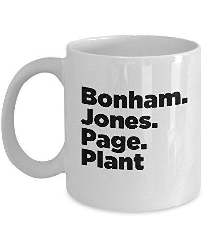 Bonhams Jones Page Plant Led Zeppelin Popular Music Lover Coffee Tea Mug Cup