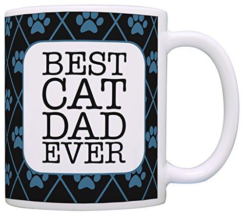 Cat Gifts for Men Best Cat Dad Ever Cat Lover Gifts for Men Funny Cat Coffee Mug Gift Coffee Mug Tea Cup Black