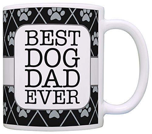 Dog Gifts for Men Best Dog Dad Ever Dog Lover Gifts for Men Funny Dog Coffee Mug Gift Coffee Mug Tea Cup Black