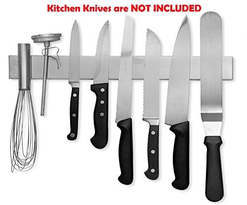 Fixture Displays 16 Inch Stainless Steel Magnetic Knife Bar Knife Holder Knife Rack Knife Strip Kitchen Utensil Holder Tool Holder 16934