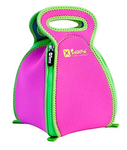 FlatBox Original Placemat Lunch Bag Hot PinkGreenBlue