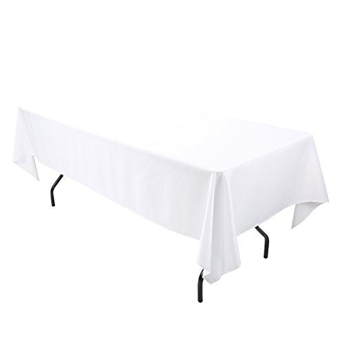 E-TEX 60x126-Inch Polyester Rectangular Tablecloth White