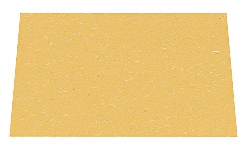 Wakaizumi lacquerware Japanese paper table mat long 3 cun longitudinal Japanese paper laid mat gold and silver pretend series orange 100 pieces B-3-87