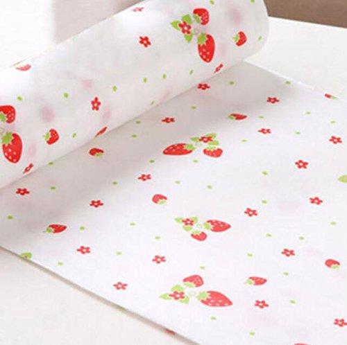 YOIOY Polka Dots Shelf Paper Cabinet Drawer Liner Kitchen Table Mat Strawberry