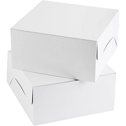 Wilton Plain White Cake Box Multipack 12 in 12 in x 6 in 2-Pack