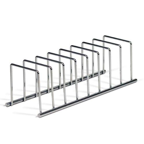 Spectrum Diversified Euro Lid Organizer Plate Rack Lid Holder Square Chrome