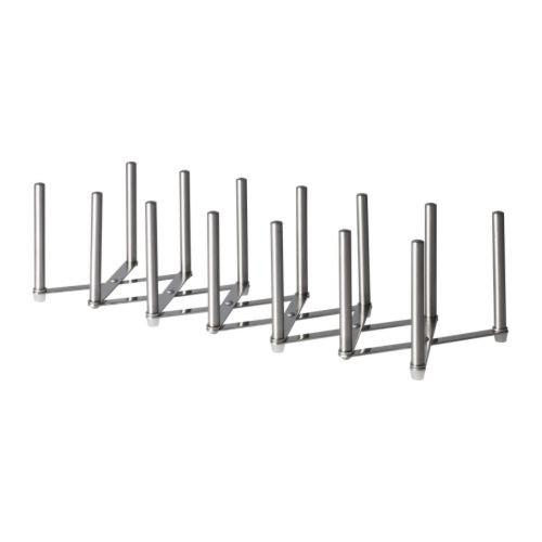 Ikea 70154800X2 Variera Pot Lid Organizer Stainless Steel Set of 2