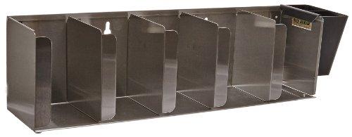 San Jamar L1022 Stainless Steel Adjustable Lid Organizer 5 Stack Capacity