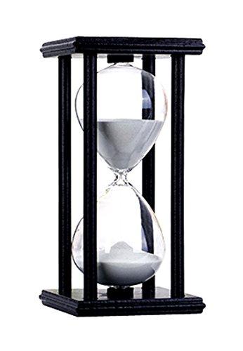 Hourglass Timers 30 minutes romantic crystal coffee table desk bookshelf Decoration Valentines Black box white sand