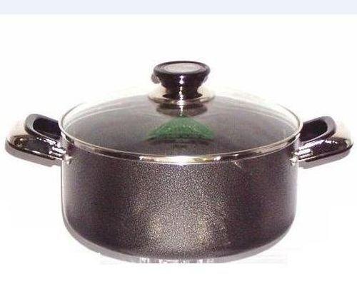 2 Handle Non-Stick Sauce Pot With Glass Lid - 5 Qt