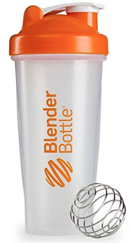 28 OZ Blender Bottle Classic Shaker Cup with Loop Top ALL COLORS Orange