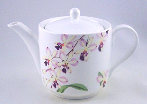 Fine English Bone China Teapot - 6 Cup - Orchid Chintz - Roy Kirkham England