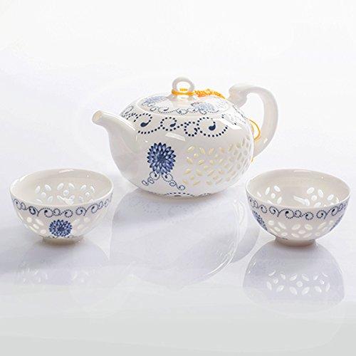 Haodajia Chinese Kung Fu Tea SetBone China Teapot Tea Cup3-pcs Set Coffee Tea Sets
