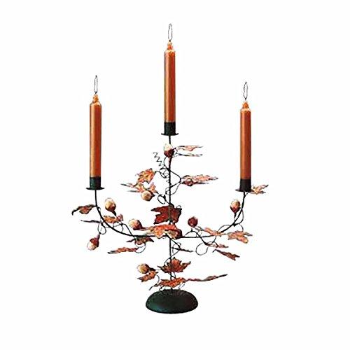 Candle Holder Black Wrought Iron Leaf And Acorn Holder  Renovators Supply