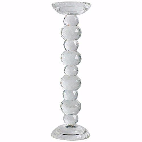 Benzara Elegantly Elevated Nera Crystal Candlestick Holder Candleholder