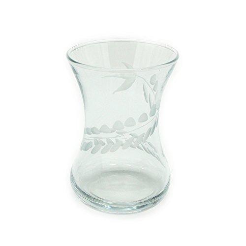 Turkish Tea Glass Set with Ivy Pattern 6 pcs