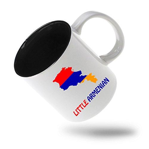 Style In Print Little Armenian Coffee Tea Ceramic Inner Color Mug WhiteBlack