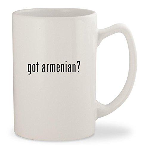 got armenian - White 14oz Ceramic Statesman Coffee Mug Cup