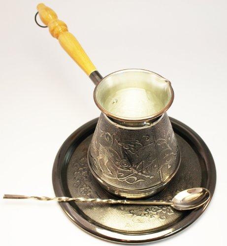 Turkish Coffee Pot Set Deer Volume 17 Oz - 500 ML Ibrik Briki Cezve Turka