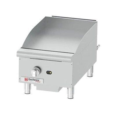 Cecilware Pro GCP15 Commercial Gas Countertop Griddle 30000 BTU