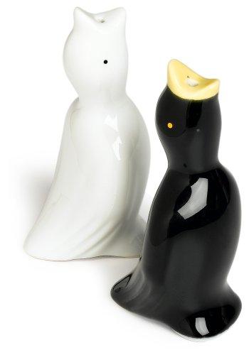 R & M Pie Bird Set Of 2,  One Each White And Black