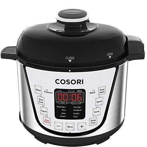 COSORI C3120-PC Pressure Slow Rice Cooker Sauté Steamer Yogurt Maker Warmer 24h Delay Timer 2-Year Warranty 2 Quart Silver