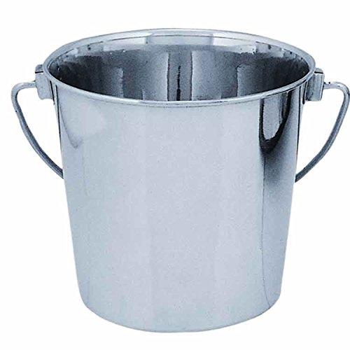 QT Dog Round Stainless Steel Bucket 9 quart