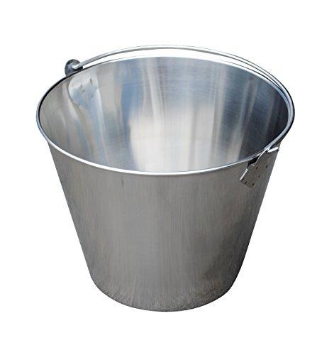 Vestil BKT-SS-325 Stainless Steel Bucket 10 Depth 325 gallon 88 pound Capacity