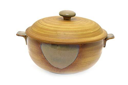 Sango Splash 4951 Tan Brown Drip 25 Quart Covered Casserole Bowl Dish 925 W