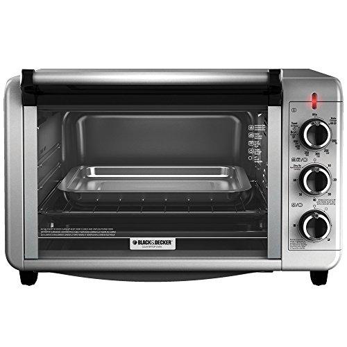 Black & Decker To3210ssd Countertop Convection Toaster Oven, Silver